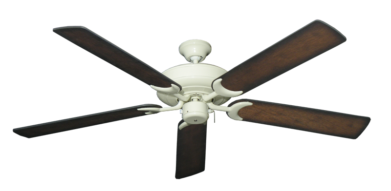 """Picture of Raindance Antique White with 60"""" Distressed Hickory Blades"""