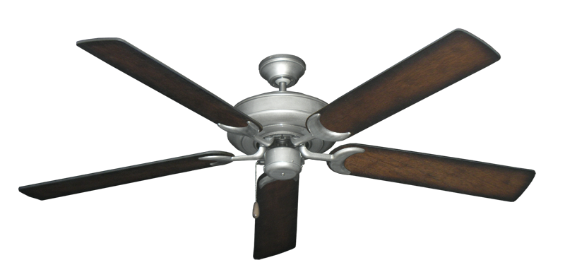 """Picture of Raindance Brushed Nickel BN-1 with 60"""" Distressed Hickory Blades"""