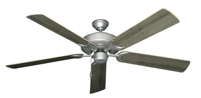 """Picture of Raindance Brushed Nickel BN-1 with 60"""" Barnwood Blades"""
