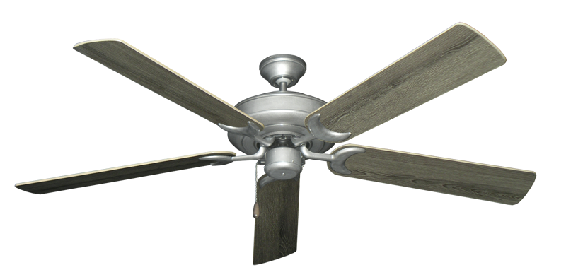 "Picture of Raindance Brushed Nickel BN-1 with 60"" Barnwood Blades"