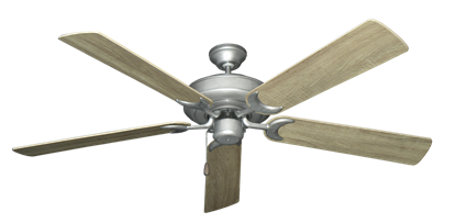 """Picture of Raindance Brushed Nickel BN-1 with 60"""" Beachwood Blades"""