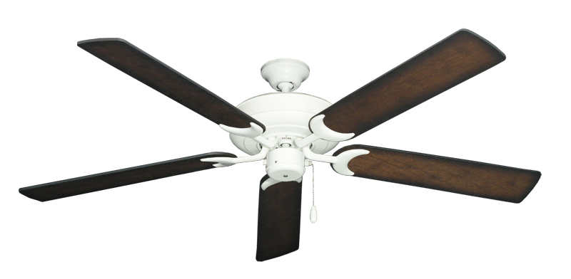 """Picture of Raindance Pure White with 60"""" Distressed Hickory Blades"""