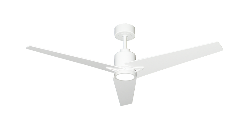 """Reveal 52"""" WiFi Enabled Indoor/Outdoor Modern Ceiling Fan in Pure White with Remote and LED Light"""