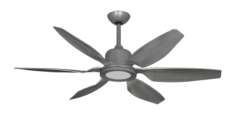 """Titan II Brushed Nickel with 52"""" Resin Brushed Nickel Blades with 18W LED Array Light and Remote"""
