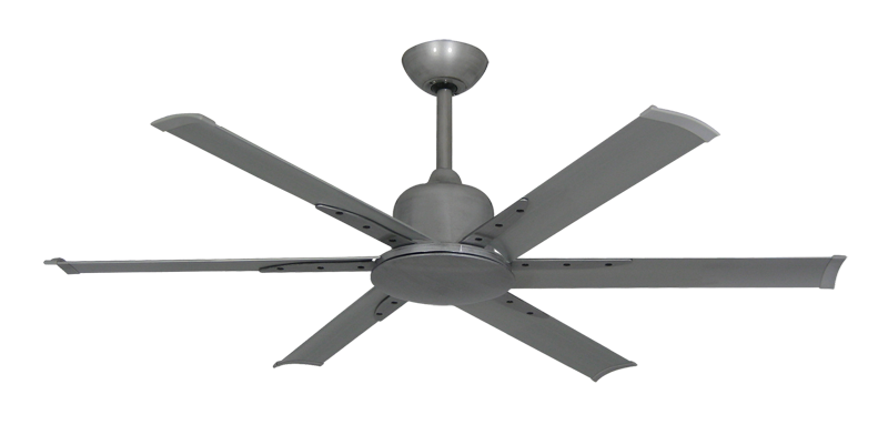 """Picture of Titan II Brushed Nickel with 52"""" Aluminum Brushed Nickel Blades with Remote"""