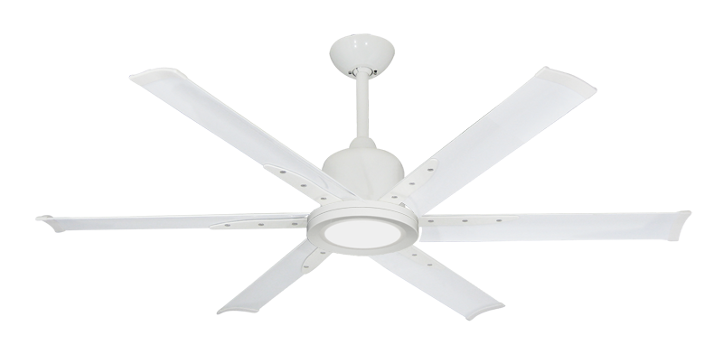 """Picture of Titan II Pure White with 52"""" Aluminum Pure White Blades with 18W LED Array Light and Remote"""