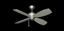"""Picture of 42"""" Mini Breeze Ceiling Fan in Satin Steel"""