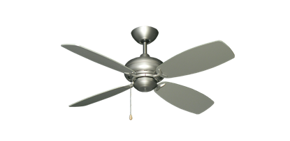 "42"" Mini Breeze Ceiling Fan in Satin Steel"