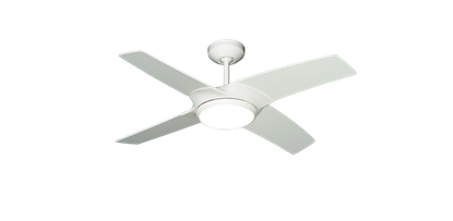 Starfire 42 in. Pure White Ceiling Fan with LED Light