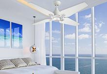 "Reno 50"" Indoor Contemporary Pure White Ceiling Fan"
