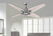 """Picture of Reno 50"""" Indoor Contemporary Brushed Nickel Ceiling Fan"""