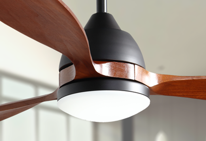 "Koho 52"" Indoor Contemporary Oil Rubbed Bronze Ceiling Fan with LED Light and Remote"