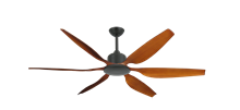 """Titan II Oil Rubbed Bronze with 66"""" Resin Natural Cherry Blades with Remote"""