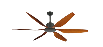 "Titan II Oil Rubbed Bronze with 66"" Resin Natural Cherry Blades with Remote"