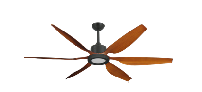 "Titan II Oil Rubbed Bronze with 66"" Resin Natural Cherry Blades with 18W LED Array Light and Remote"