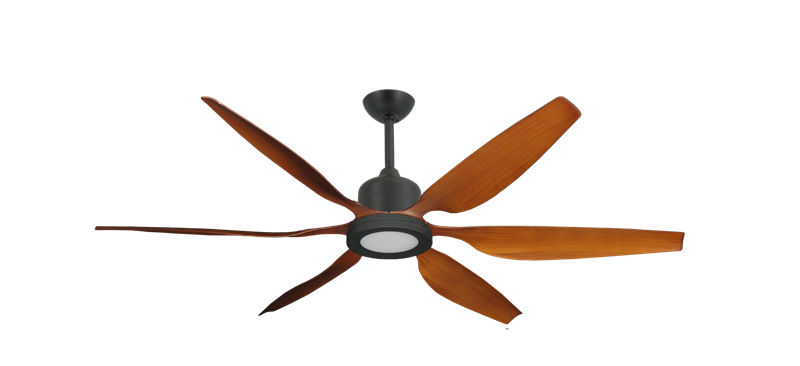 """Titan II Oil Rubbed Bronze with 66"""" Resin Natural Cherry Blades with 18W LED Array Light and Remote"""