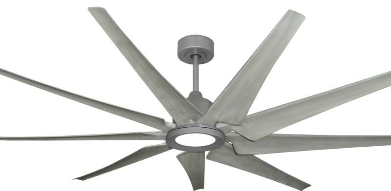 Picture of Liberator 72 in. WiFi Enabled Indoor/Outdoor Brushed Nickel Ceiling Fan With Stone Blades and 18W LED Array Light