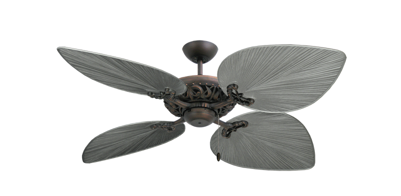 """Corsica Oil Rubbed Bronze with 53"""" Bombay Brushed Nickel Blades"""
