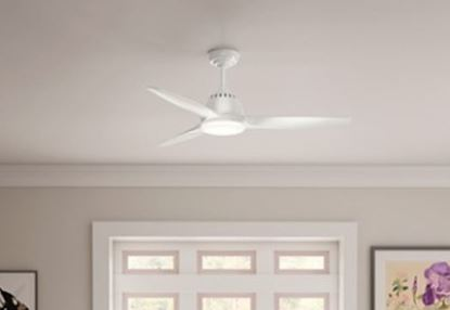 "Casablanca 52"" Wisp Fresh White Ceiling Fan with LED Light and Handheld Remote, Model 59284"