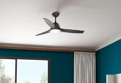 "Casablanca 52"" Wisp Noble Bronze Ceiling Fan with LED Light and Handheld Remote, Model 59285"