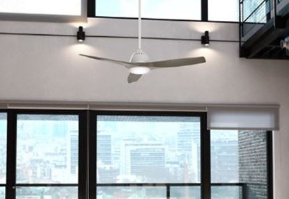 "Casablanca 52"" Wisp Fresh White Ceiling Fan with LED Light and Handheld Remote, Model 59151"