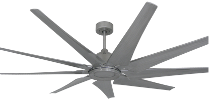 Liberator 72 in. WiFi Enabled Indoor/Outdoor Brushed Nickel Ceiling Fan