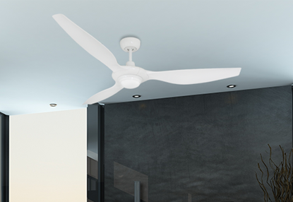 Vogue Plus 60 in. WiFi Enabled Indoor/Outdoor Pure White Ceiling Fan with LED Light