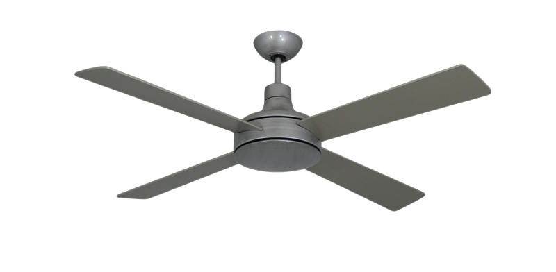 Quantum II 52 in. Brushed Nickel BN-1 Ceiling Fan w/Remote