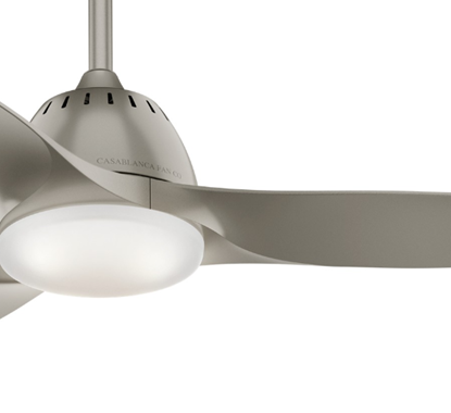 """Picture of Casablanca  44"""" Wisp Pewter Ceiling Fan with LED Light and Handheld Remote, Model 59150"""