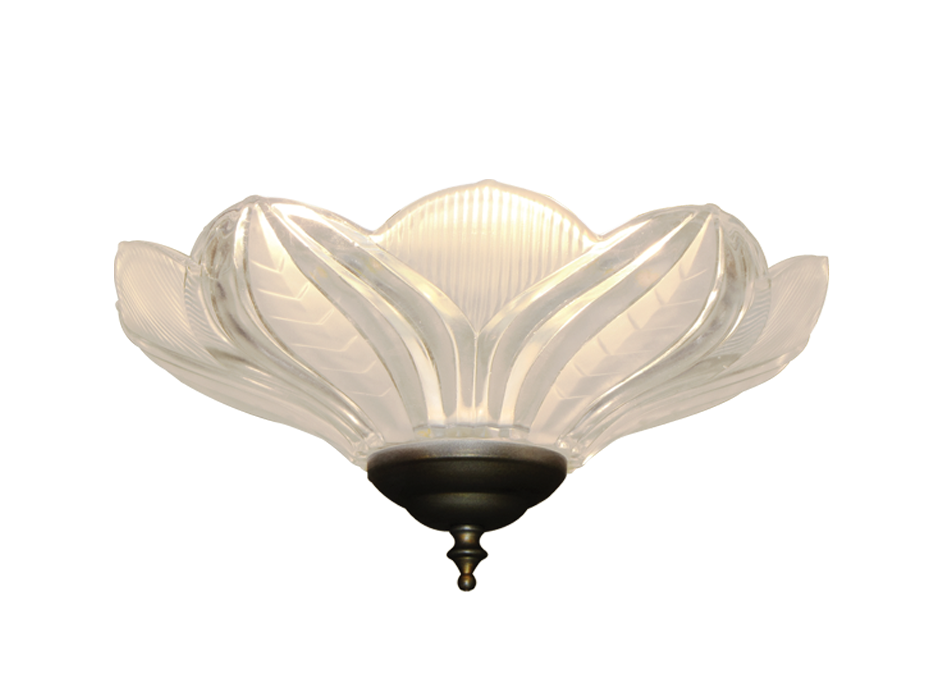 Ceiling Fan Glass Bowl Light In Clear Artisan Glass 170