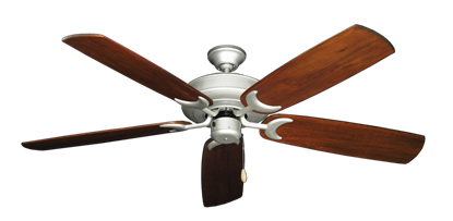 "Picture of Raindance Brushed Nickel with 60"" Series 450 Arbor Cherrywood Blades"