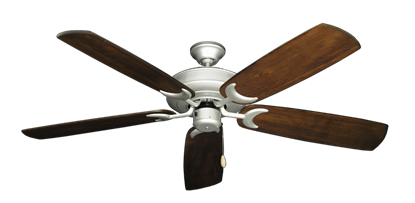"Picture of Raindance Brushed Nickel with 60"" Series 450 Arbor Dark Walnut Blades"