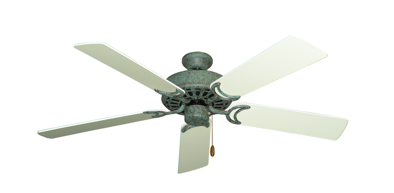 Dixie belle ceiling fan in verde green with 52 antique white blades dixie belle verde green with 52 antique white blades mozeypictures Images