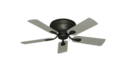 "Picture of Stratus Oil Rubbed Bronze with 44"" Satin Steel (painted) Blades"