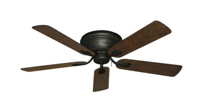 "Picture of Stratus Oil Rubbed Bronze with 52"" Distressed Walnut Blades"